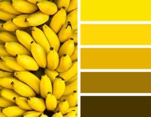 для получения желтого цвета потребуется смешивать зеленую и оранжевую краску