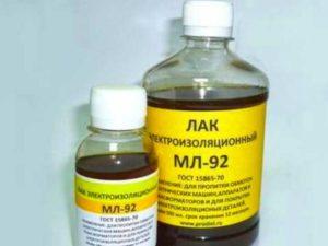 Характеристики электроизоляционного лака МД-92 и его применение