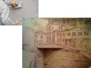 Живопись по сырой штукатурке красками (делаем фреску)