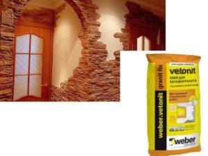 Как правильно клеить декоративный камень на стену + выбор клея