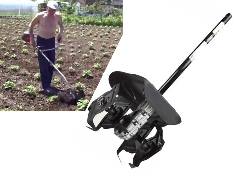 насадка на триммер для обработки почвы