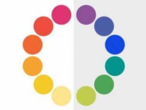 В цветовом круге Ньютона и Гете есть и теплые тона