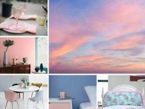 Розовый цвет в интерьере: сочетание цветов + фото