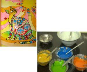 Как изготовить краски из стержня ручки и клея
