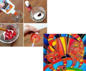 Как изготовить краски из клея ПВА и красителей (пищевых)