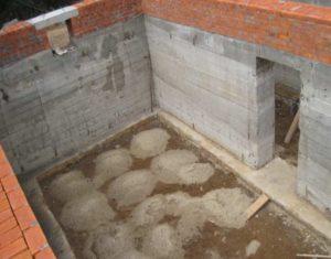 Возведение цокольного этажа частного дома