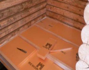 Для маленьких комнат парилки проблему получится решить укладкой слоя тепловой изоляции