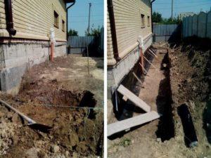 Как укрепить фундамент деревянного дома собственноручно