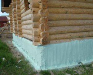 Утепление фундамента деревянного дома снаружи своими руками