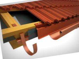 Карнизная планка для металлочерепицы – устройство, методы установки