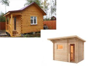 Проект маленькой бани для дачи – 2*2, 3*3 и 4*4 метра