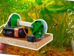 Эстетическая составляющая – аквариум с воздушными пузырьками внутри, которые поднимаются перпендикулярно поверхности воды, смотрится намного красивее.