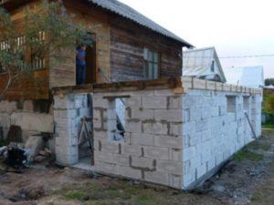 Пристройка к старому дому из пеноблоков – как правильно сделать