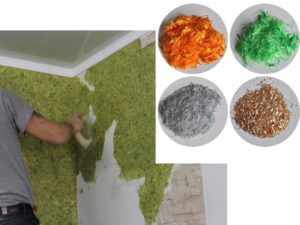 Простота в нанесении – можно декорировать стеновые поверхностями жидкими обоями даже собственноручно.