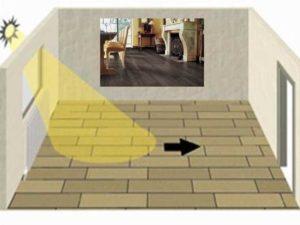 Как правильно класть ламинат в квартире – вдоль или поперек
