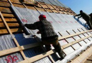 Чтобы поделить крышу на несколько зон – холодная будет снаружи, а теплая внутри.