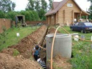 Раздельная канализация с промежуточной емкостью для сбора загрязненной воды.
