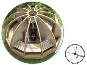 Купольные бани с радиально-дуговыми каркасами