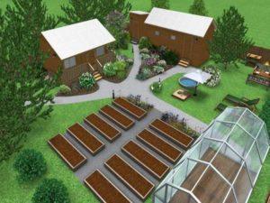 Планировка огорода и сада в дереве – схемы и фото