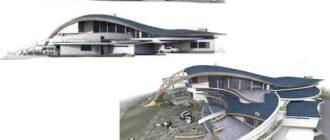 Решение по планировке и архитектуре для такого участка будет определена при учете ранее полученного рельефа