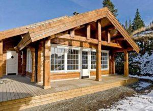 Норвежские дома из лафета + проекты