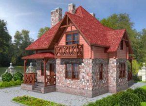 Комбинированные дома из клееного бруса и кирпича + проекты и фото
