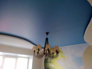 Посредством натяжных полотен из сатина можно скрывать неровности и небольшие изъяны потолочной поверхности.