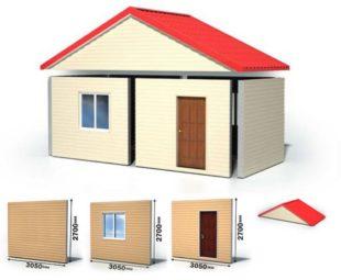 Сборка производится внутри помещения, а значит, будет меньше вероятность насыщения влагой самого утеплителя и панелей.