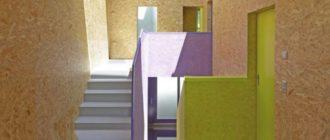 ОСБ-2 – данный тип материала можно применять внутри сухого помещения для стеновой или потолочной отделки.