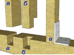 Отверстия в брусках просверливают больше на 0.3 см, нежели диаметр анкерной шпильки.