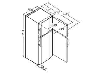 Полноразмерные – сюда отнесем большие модели, т.е. двухкамерные, и отделения в них всегда оснащены отдельными дверками.
