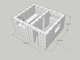 кирпичная баня сама по себе требует создания более толстых стен, и это дает возможность сводить к минимум тепловые потери от прогревания поверхности изнутри кладки