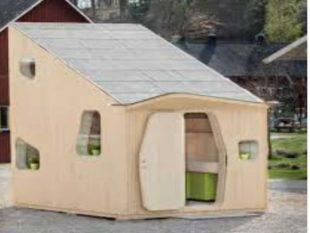Небольшой дом из кирпичей.