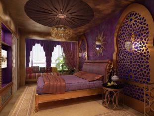 Дизайн интерьера спальни в восточном стиле + фото и особенности оформления
