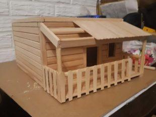 Модель деревянных домов своими руками можно сделать