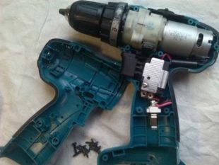 Как производить ремонтные работы шуруповерта