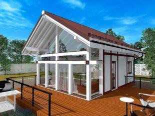 Проект каркасного дома 5*7 – как построить своими руками