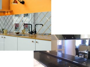 Зеркальный фартук на кухне: плюсы и минусы, отзывы