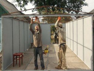 Разборной гараж своими руками + фото и особенности сборки