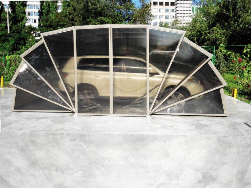 Гибкость материала дает возможность делать с его использованием гараж абсолютно любых форм. К примеру, если вы можете выстроить строение в виде полусферы.