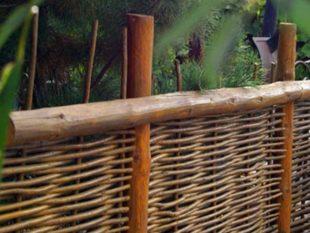 Как сделать плетеный забор (плетню) своими руками