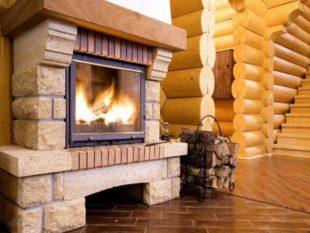 Камин в деревянном доме: как вписать в интерьер, установка