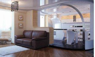 Кухня и зал, совмещенные в квартире/доме