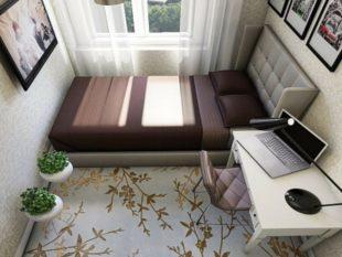 Современный дизайн комнаты в 10 кв.м.