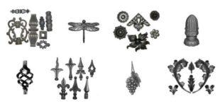 Кованые элементы для забора из металла + фото