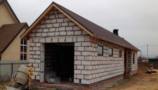 Как построить гараж из пеноблоков самостоятельно