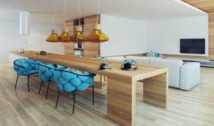 Кухня-гостиная в современном стиле + фото