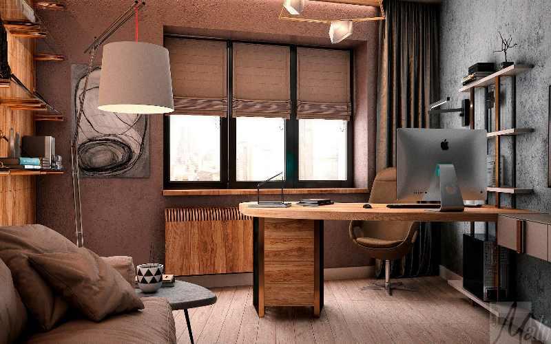 Дизайн интерьера рабочего места в квартире + фото
