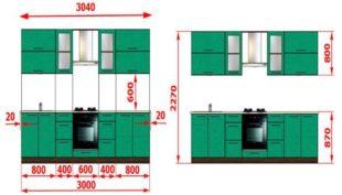 На какой высоте вешают верхние шкафы для кухни