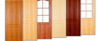 Ламинированные ПВХ двери